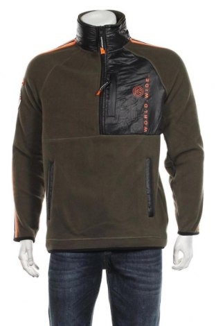 Ανδρική μπλούζα fleece Superdry, Μέγεθος M, Χρώμα Πράσινο, Πολυεστέρας, Τιμή 38,27€
