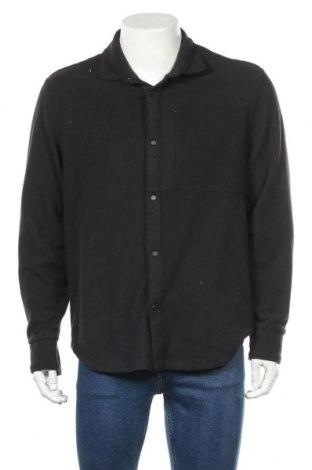 Мъжка поларена риза Napapijri, Размер L, Цвят Черен, Полиестер, Цена 104,30лв.