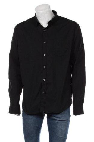 Мъжка риза, Размер XXL, Цвят Черен, 100% памук, Цена 36,75лв.