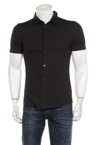 Ανδρικό πουκάμισο Boohoo, Μέγεθος M, Χρώμα Μαύρο, 94% βαμβάκι, 6% ελαστάνη, Τιμή 17,01€