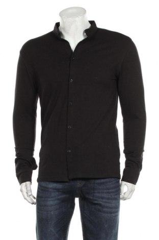 Ανδρικό πουκάμισο Boohoo, Μέγεθος L, Χρώμα Μαύρο, 94% βαμβάκι, 6% ελαστάνη, Τιμή 17,01€