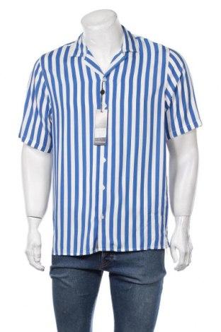 Мъжка риза Denim Project, Размер L, Цвят Син, Вискоза, Цена 44,25лв.