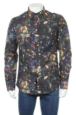 Мъжка риза Desigual, Размер L, Цвят Многоцветен, Памук, Цена 57,12лв.