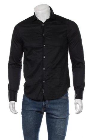 Мъжка риза Emporio Armani, Размер S, Цвят Син, 100% памук, Цена 201,75лв.