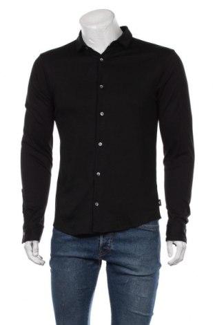 Ανδρικό πουκάμισο Emporio Armani, Μέγεθος M, Χρώμα Μαύρο, 100% βαμβάκι, Τιμή 100,13€