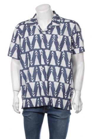 Мъжка риза Far Afield, Размер L, Цвят Син, Памук, лен, Цена 66,75лв.