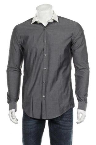 Ανδρικό πουκάμισο Hugo Boss, Μέγεθος M, Χρώμα Γκρί, Βαμβάκι, Τιμή 28,95€