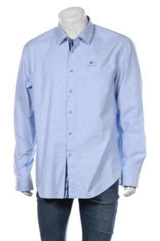 Cămașă de bărbați Hugo Boss, Mărime 3XL, Culoare Albastru, 98% bumbac, 2% elastan, Preț 399,24 Lei