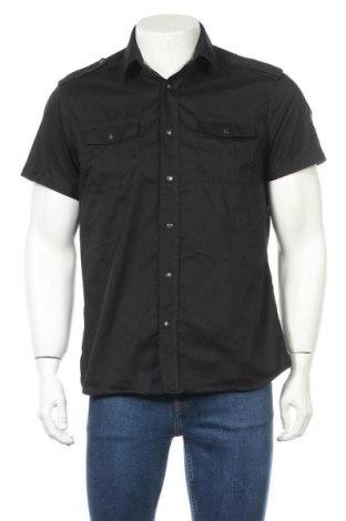 Ανδρικό πουκάμισο Jack & Jones, Μέγεθος M, Χρώμα Μαύρο, 62% βαμβάκι, 33% πολυαμίδη, 5% ελαστάνη, Τιμή 16,70€