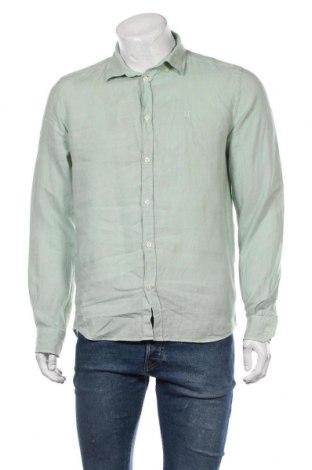 Мъжка риза Les Deux, Размер M, Цвят Зелен, 100% лен, Цена 87,00лв.