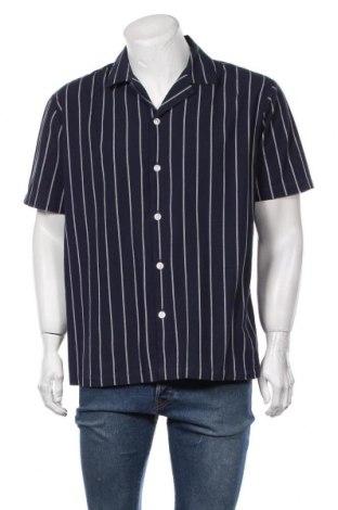 Мъжка риза Lindbergh, Размер XL, Цвят Син, Памук, Цена 44,25лв.