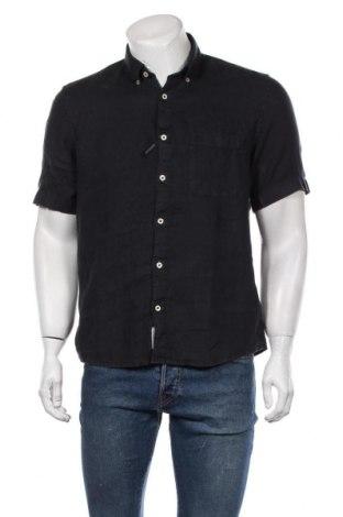 Мъжка риза Marc O'Polo, Размер M, Цвят Син, Лен, Цена 96,75лв.