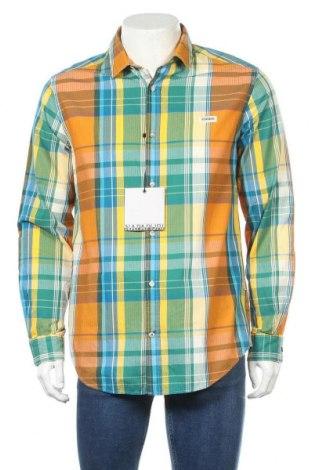Мъжка риза Napapijri, Размер L, Цвят Многоцветен, Памук, Цена 111,75лв.