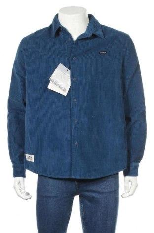 Мъжка риза Napapijri, Размер L, Цвят Син, Памук, Цена 111,75лв.