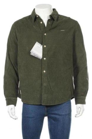 Мъжка риза Napapijri, Размер L, Цвят Зелен, Памук, Цена 111,75лв.