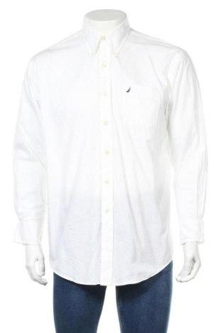 Ανδρικό πουκάμισο Nautica, Μέγεθος L, Χρώμα Λευκό, Βαμβάκι, Τιμή 20,88€
