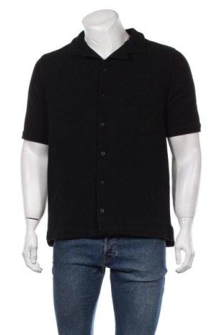 Мъжка риза Oftt, Размер M, Цвят Черен, Памук, Цена 84,00лв.
