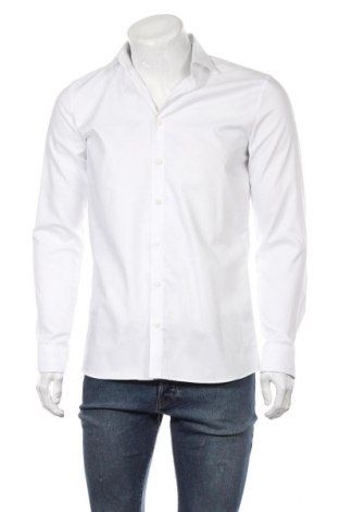 Мъжка риза Olymp, Размер M, Цвят Бял, 97% памук, 3% еластан, Цена 51,75лв.
