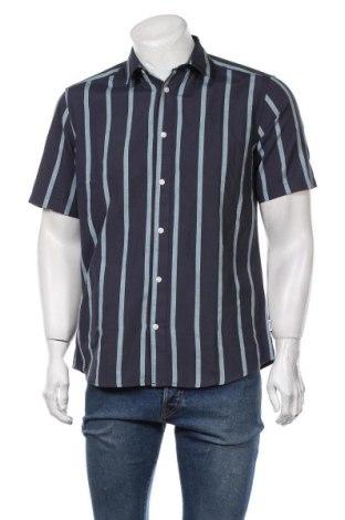 Мъжка риза Only & Sons, Размер L, Цвят Син, 55% памук, 45% полиестер, Цена 44,25лв.