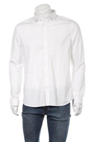 Мъжка риза Petrol Industries, Размер L, Цвят Бял, 97% памук, 3% еластан, Цена 44,25лв.