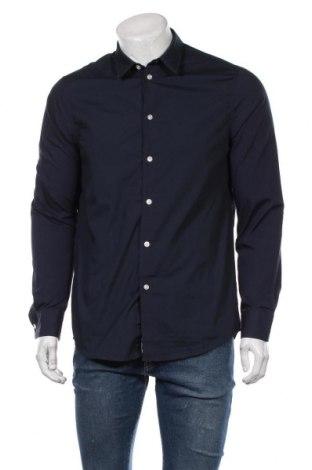 Мъжка риза Pier One, Размер M, Цвят Син, 65% полиестер, 35% памук, Цена 36,75лв.