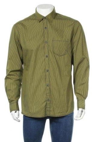 Ανδρικό πουκάμισο S.Oliver, Μέγεθος L, Χρώμα Πράσινο, Βαμβάκι, Τιμή 11,14€