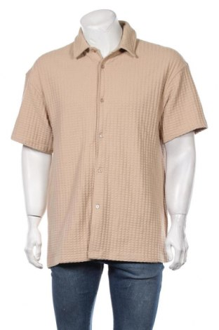 Мъжка риза Samsoe & Samsoe, Размер L, Цвят Бежов, Памук, Цена 84,00лв.