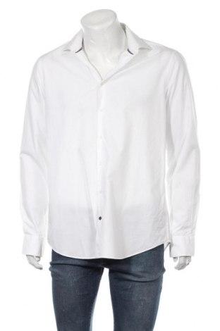 Мъжка риза Tommy Hilfiger, Размер XL, Цвят Бял, 98% памук, 2% еластан, Цена 36,00лв.