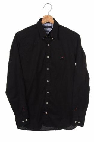 Ανδρικό πουκάμισο Tommy Hilfiger, Μέγεθος S, Χρώμα Μαύρο, 97% βαμβάκι, 3% ελαστάνη, Τιμή 22,27€