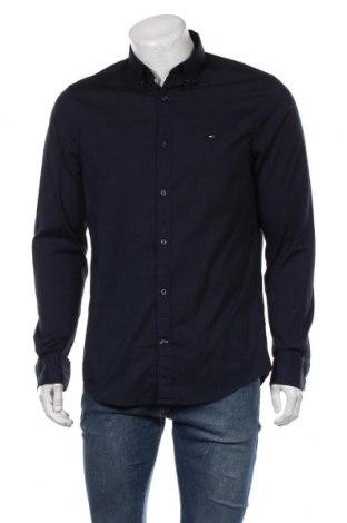 Мъжка риза Tommy Hilfiger, Размер L, Цвят Син, 97% памук, 3% еластан, Цена 89,25лв.