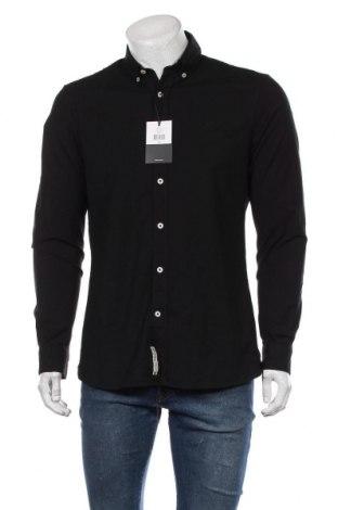Мъжка риза WE, Размер L, Цвят Черен, 97% памук, 3% еластан, Цена 46,50лв.