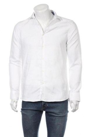 Мъжка риза Zara, Размер M, Цвят Бял, 60% памук, 40% полиестер, Цена 18,90лв.