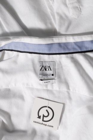 Ανδρικό πουκάμισο Zara, Μέγεθος M, Χρώμα Λευκό, 60% βαμβάκι, 40% πολυεστέρας, Τιμή 16,24€