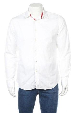 Мъжка риза Zara Man, Размер L, Цвят Бял, Памук, Цена 24,75лв.