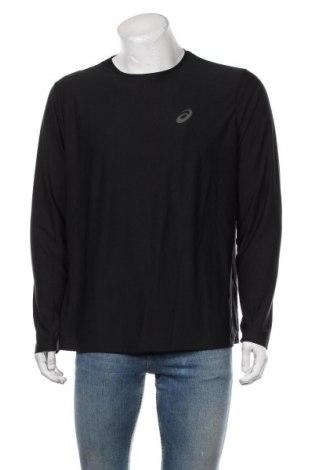 Мъжка спортна блуза ASICS, Размер XL, Цвят Черен, Полиестер, Цена 46,50лв.