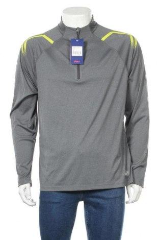 Мъжка спортна блуза ASICS, Размер XL, Цвят Сив, 100% полиестер, Цена 51,75лв.