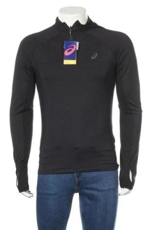 Мъжка спортна блуза ASICS, Размер S, Цвят Черен, 88% полиестер, 12% еластан, Цена 51,75лв.