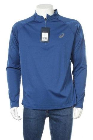 Bluză trening de bărbați ASICS, Mărime XL, Culoare Albastru, 100% poliester, Preț 90,79 Lei