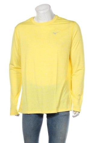 Мъжка спортна блуза Mizuno, Размер XL, Цвят Жълт, Полиестер, Цена 51,75лв.