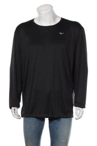 Мъжка спортна блуза Mizuno, Размер XXL, Цвят Черен, Полиестер, Цена 51,75лв.