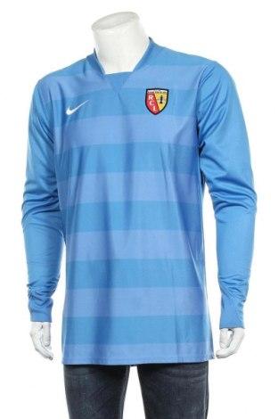 Мъжка спортна блуза Nike, Размер L, Цвят Син, Полиестер, Цена 36,75лв.