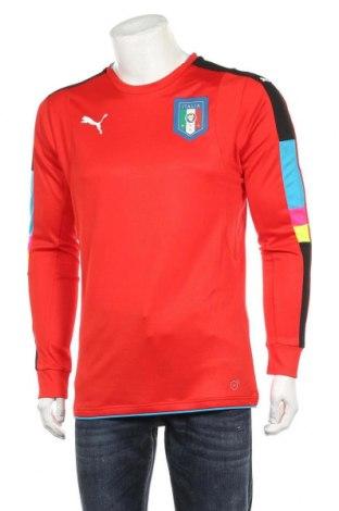 Мъжка спортна блуза PUMA, Размер M, Цвят Червен, Полиестер, Цена 59,25лв.