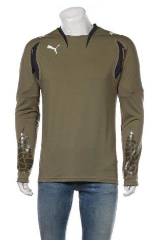 Мъжка спортна блуза PUMA, Размер M, Цвят Зелен, Полиестер, Цена 59,25лв.