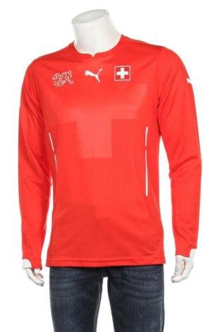 Мъжка спортна блуза PUMA, Размер L, Цвят Червен, Полиестер, Цена 59,25лв.