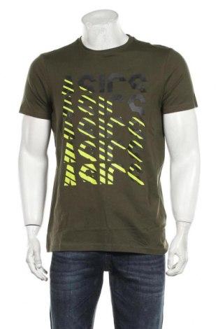 Мъжка тениска ASICS, Размер M, Цвят Зелен, 97% памук, 3% еластан, Цена 29,25лв.