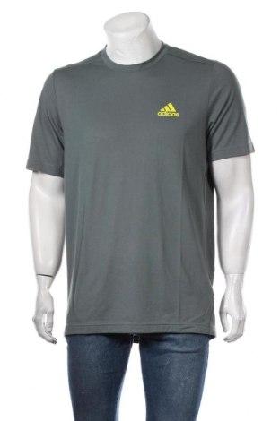 Tricou de bărbați Adidas, Mărime L, Culoare Albastru, 65% poliester, 35% bumbac, Preț 102,14 Lei