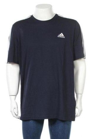 Мъжка тениска Adidas, Размер XL, Цвят Син, Памук, Цена 51,75лв.