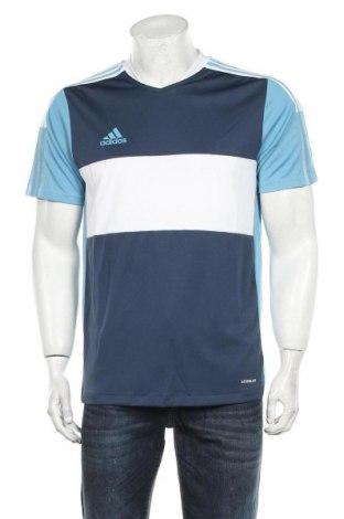 Мъжка тениска Adidas, Размер M, Цвят Син, Полиестер, Цена 22,77лв.