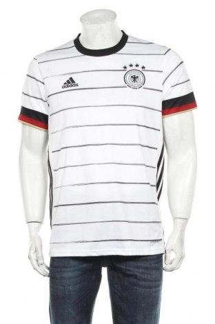 Мъжка тениска Adidas, Размер M, Цвят Бял, Полиестер, Цена 48,00лв.