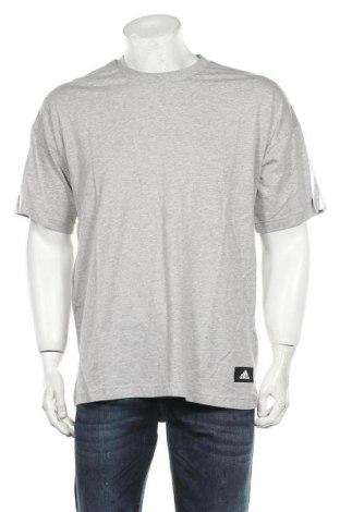 Мъжка тениска Adidas, Размер L, Цвят Сив, Памук, Цена 51,75лв.